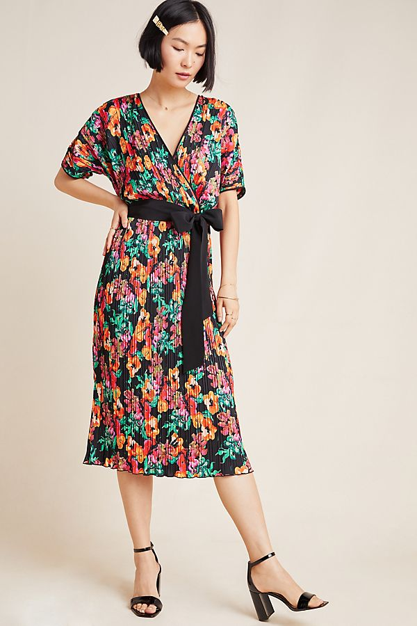 Slide View: 1: Diane von Furstenberg Autumn Floral Wrap Dress