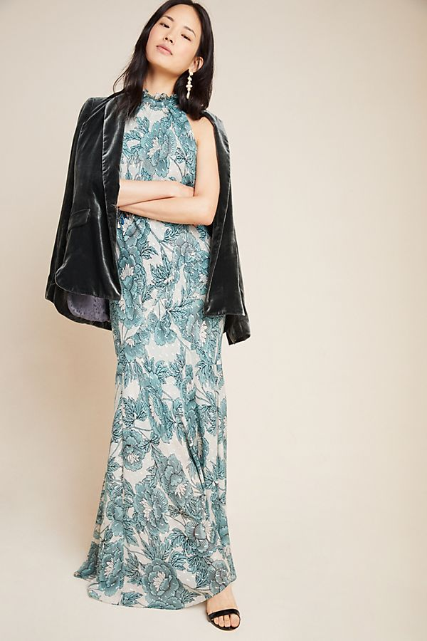 Slide View: 1: Diane von Furstenberg Halter Maxi Dress