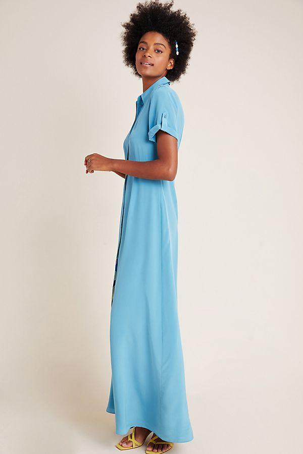 Slide View: 1: Diane von Furstenberg Georgia Silk Maxi Dress
