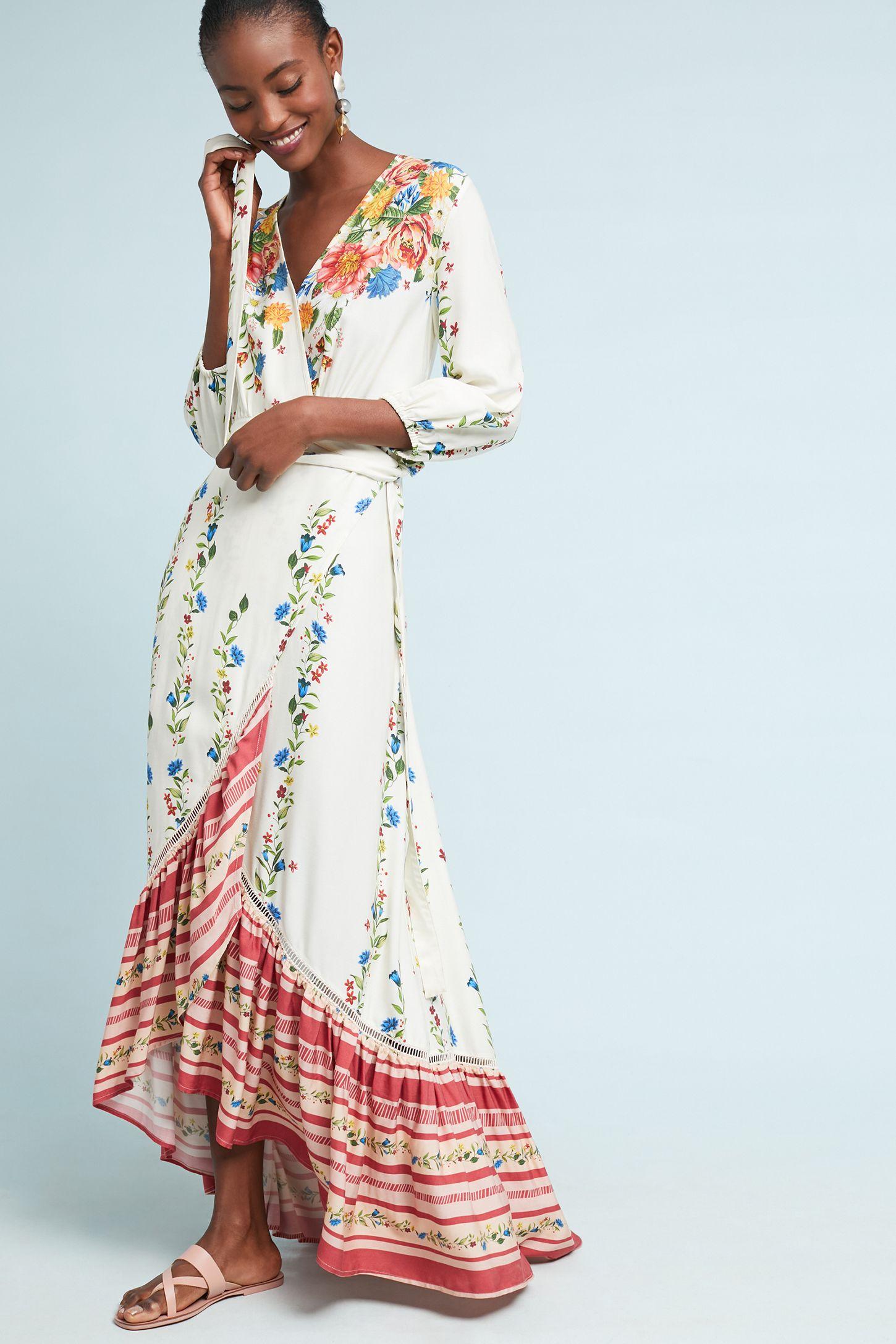 761f8eaa28bba Farm Rio Springtime Wrap Dress | Anthropologie