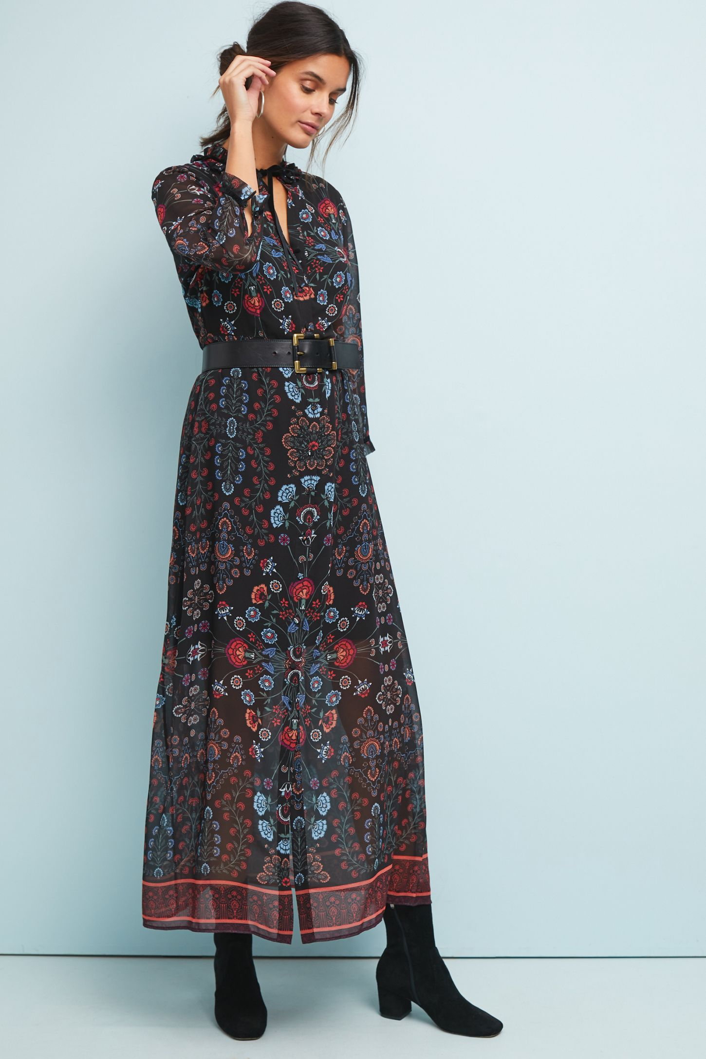 1364ce712c8 Antha Floral-Print Shirt Dress   Anthropologie UK