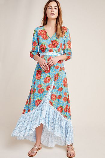 d0a58617a52 Farm Rio Susanne Maxi Wrap Dress