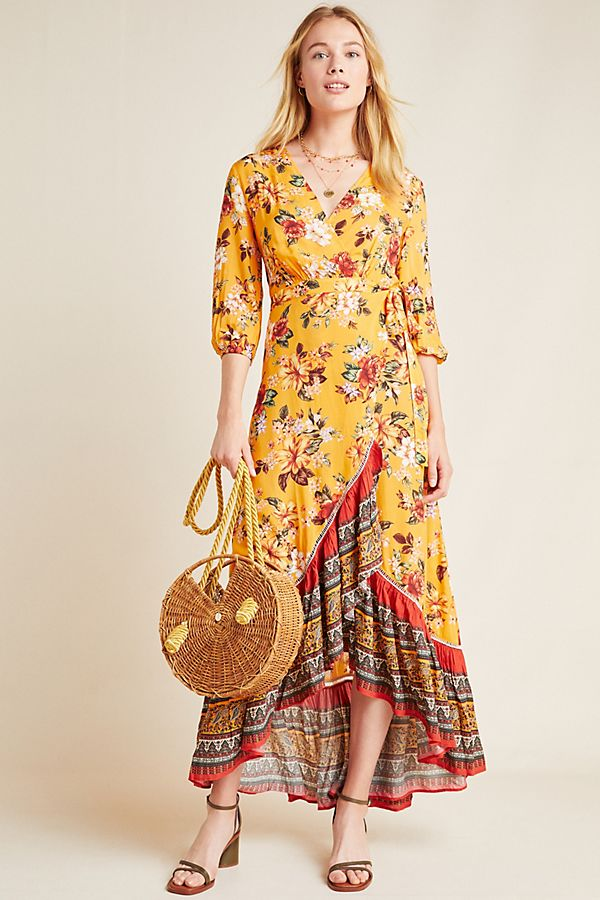 Slide View: 1: Farm Rio for Anthropologie Soigne Maxi Dress