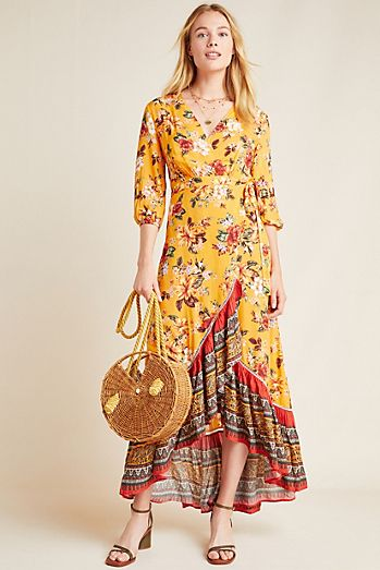 5d3dee047cbbf Farm Rio for Anthropologie Soigne Maxi Dress