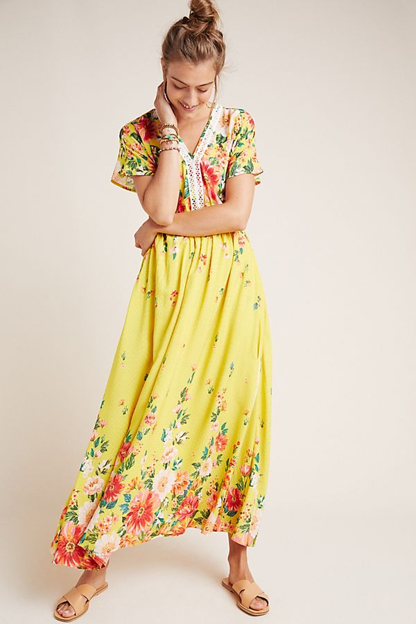 Slide View: 1: Farm Rio Samara Floral Maxi Dress