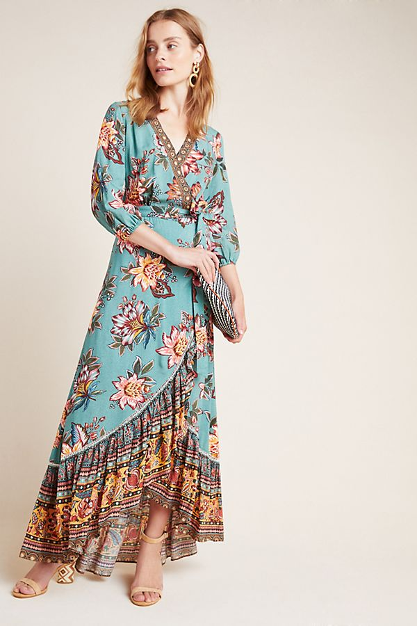 Slide View: 1: Farm Rio for Anthropologie Viera Wrap Dress