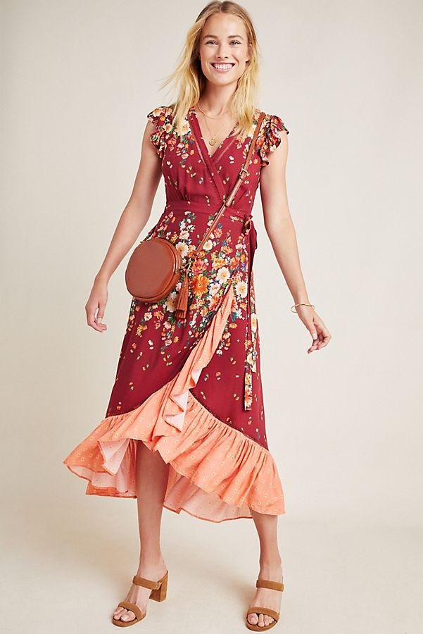 Slide View: 1: Farm Rio for Anthropologie Tesorina Wrap Dress