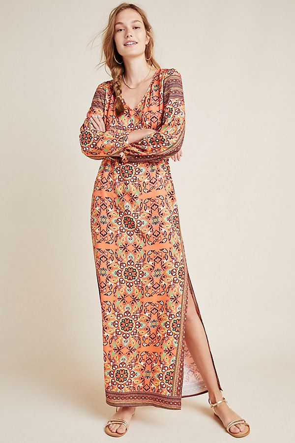 Slide View: 1: Farm Rio for Anthropologie Clarabella Maxi Dress