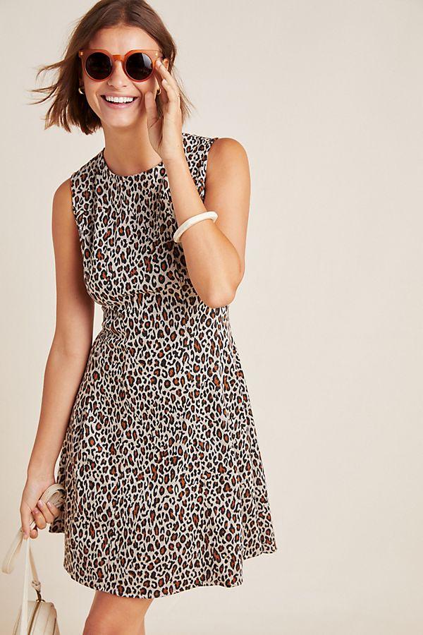 Slide View: 1: Jessie Leopard Shift Dress