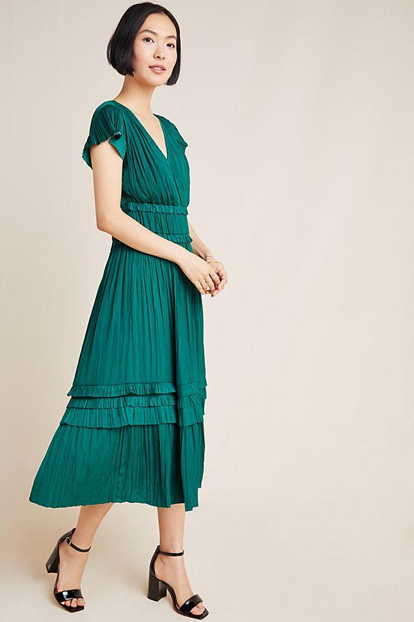 Slide View: 1: Sereia Pleated Midi Dress
