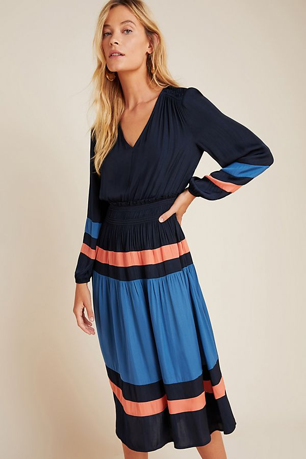 Slide View: 3: Aidy Colorblocked Midi Dress