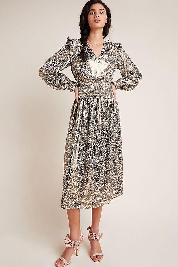 Slide View: 1: Lucia Shimmer Midi Dress