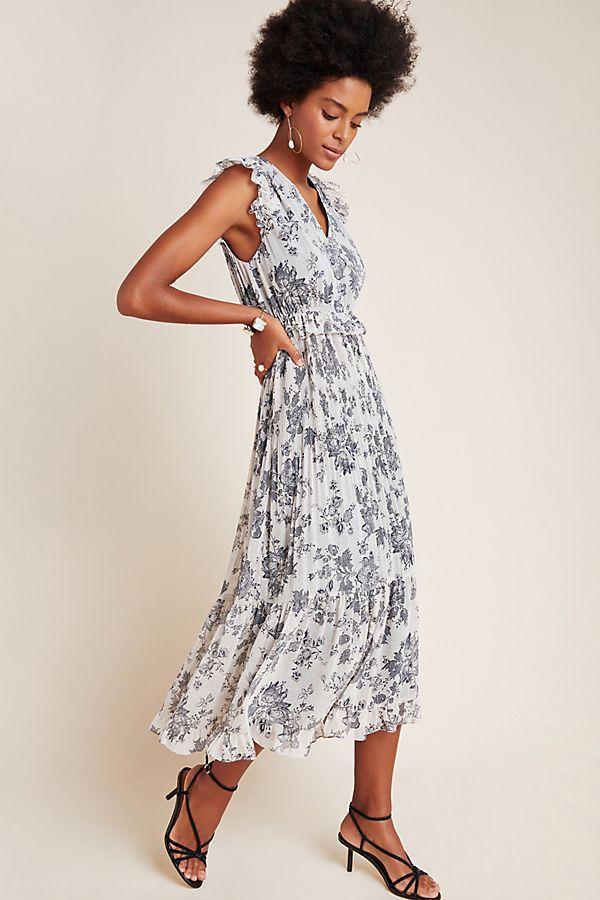 Slide View: 1: Cecily Ruffled Maxi Dress