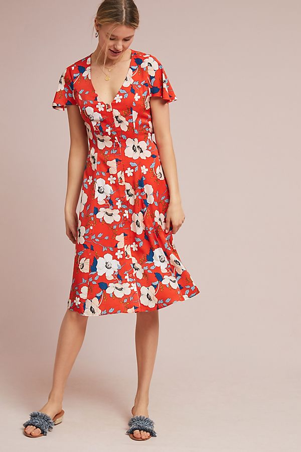 eb93eee09632 Regents Floral Midi Dress | Anthropologie