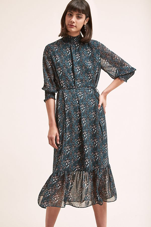 21bc7f7e0c0e Davina Leopard-Midi Dress | Anthropologie UK