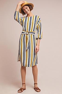 Slide View: 1: Breanne Striped Midi Dress