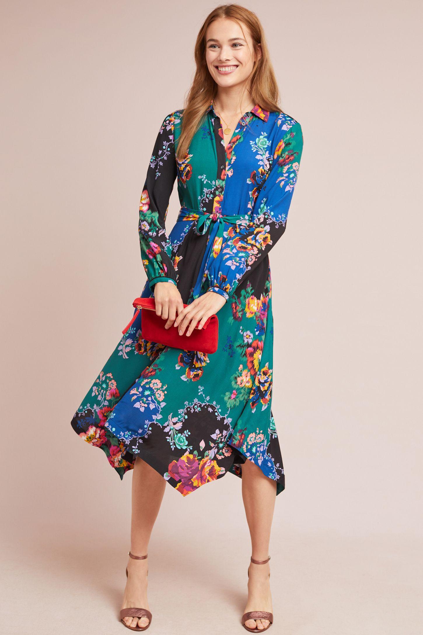 f699ee30fd3 Floral Patchwork Shirtdress | Anthropologie
