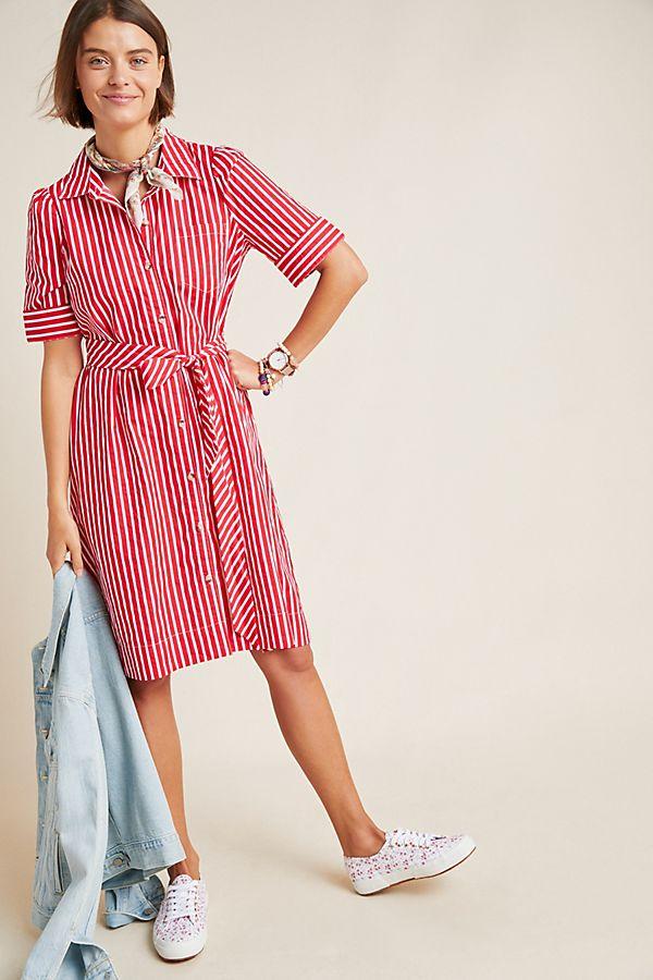 Slide View: 1: Kiana Striped Shirtdress