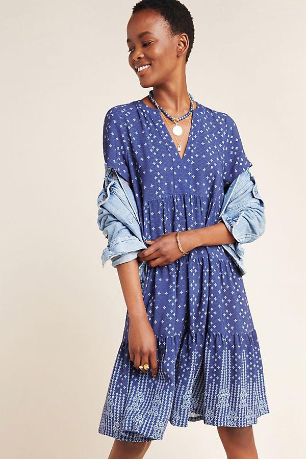 Slide View: 1: Tania Tiered Tunic Dress