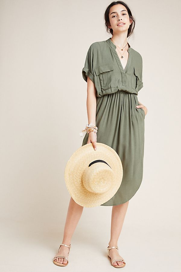 Slide View: 1: Mitra Utility Shirtdress