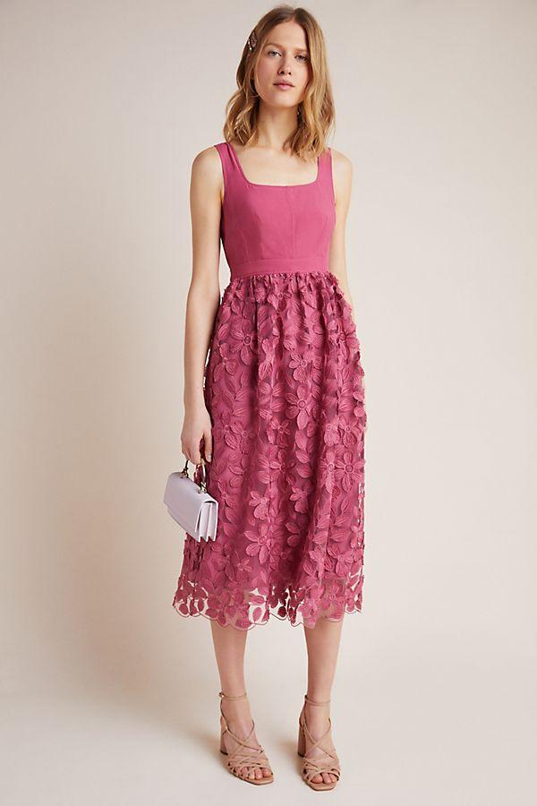 Slide View: 1: Virginia Textured Midi Dress