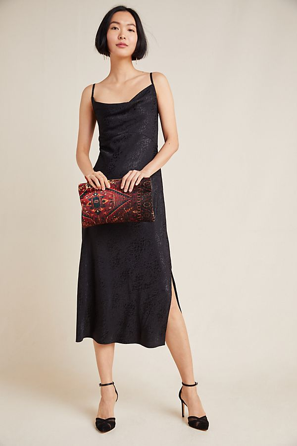Slide View: 1: Amelie Jacquard Slip Dress