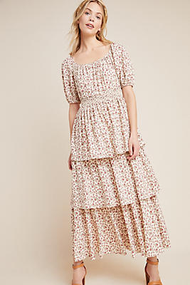 Slide View: 1: Luciana Tiered Maxi Dress