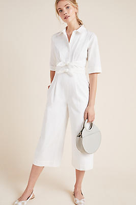 Slide View: 1: Sawyer Poplin Jumpsuit