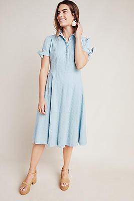 Slide View: 1: Judith Eyelet Midi Dress