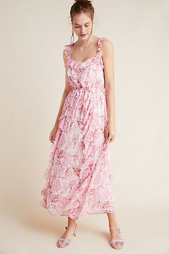 44bf4e1501c Cheryl Ruffled Maxi Dress