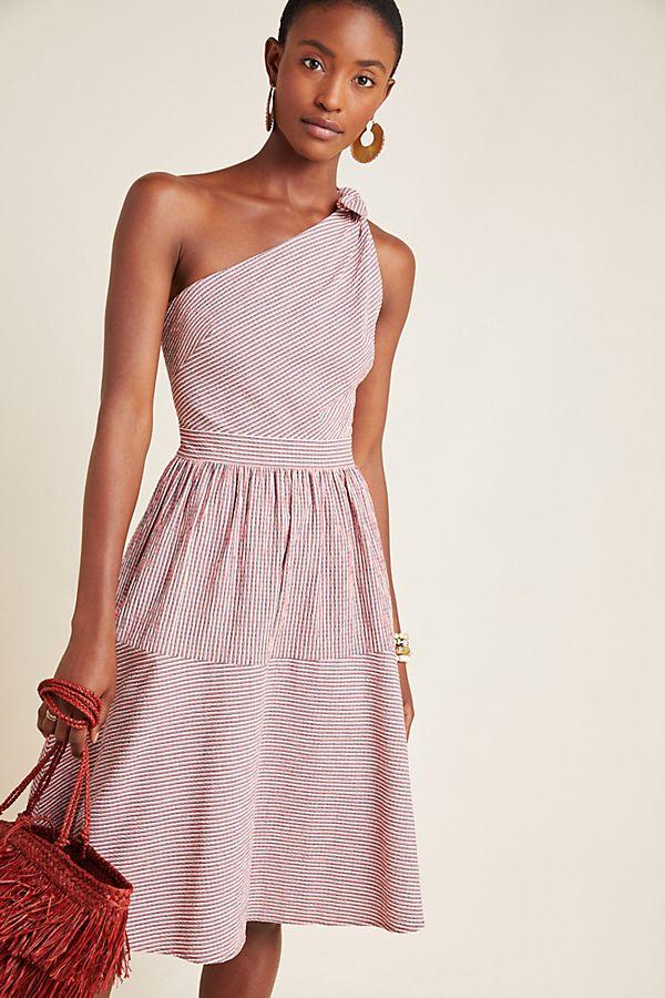 Slide View: 1: Martha One-Shoulder Mini Dress