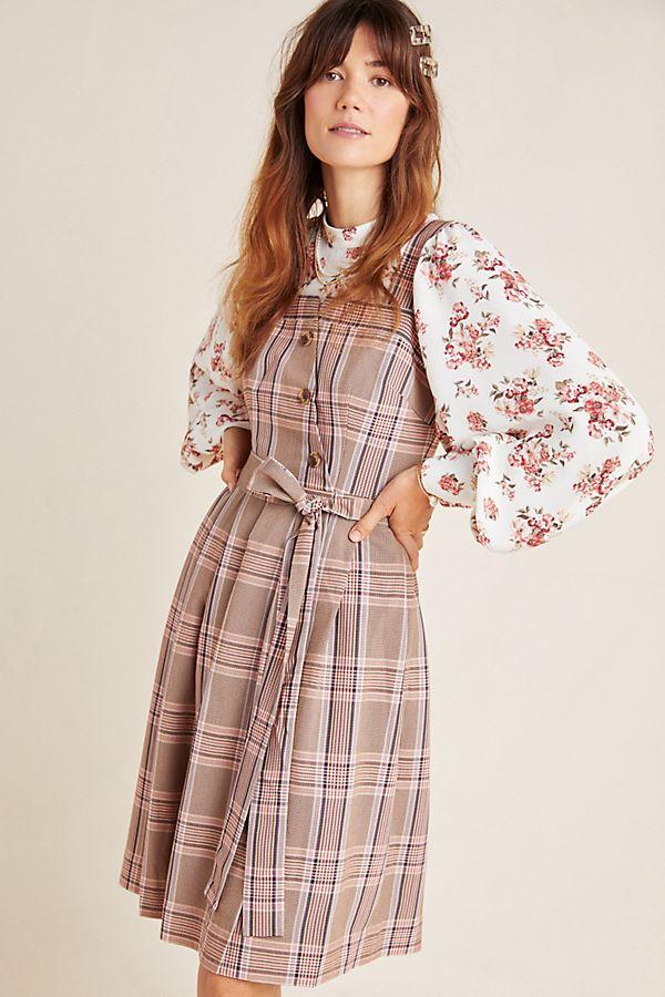 Slide View: 1: Madison Tie-Front Mini Dress