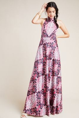 Serena Halter Maxi Dress by Nicole Miller
