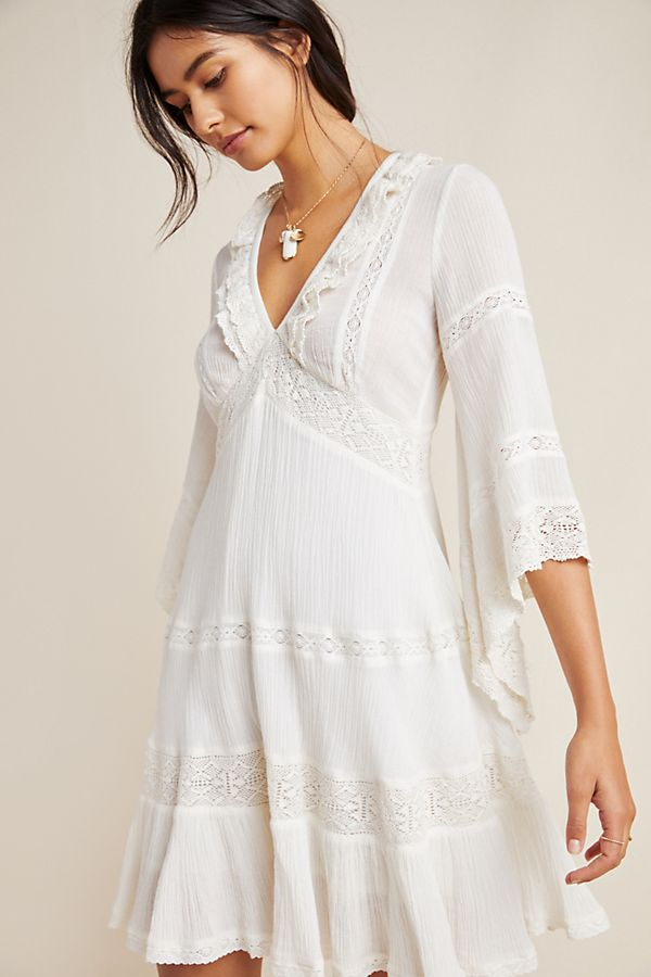785e04b599ca Guinevere Lace Tunic Dress   Anthropologie