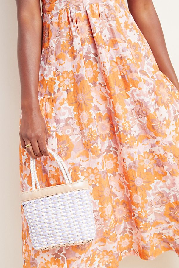 Tracy Reese Michelle Floral Organic-Linen Midi Dress