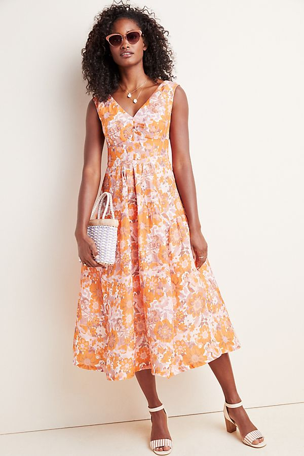 Slide View: 1: Michelle Floral Midi Dress