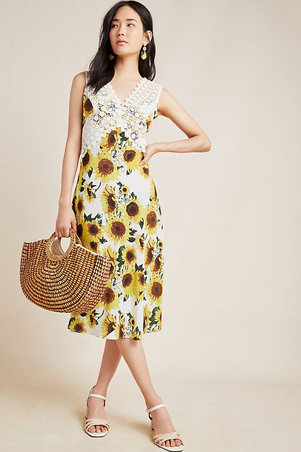 Slide View: 1: Francoise Sleeveless Midi Dress