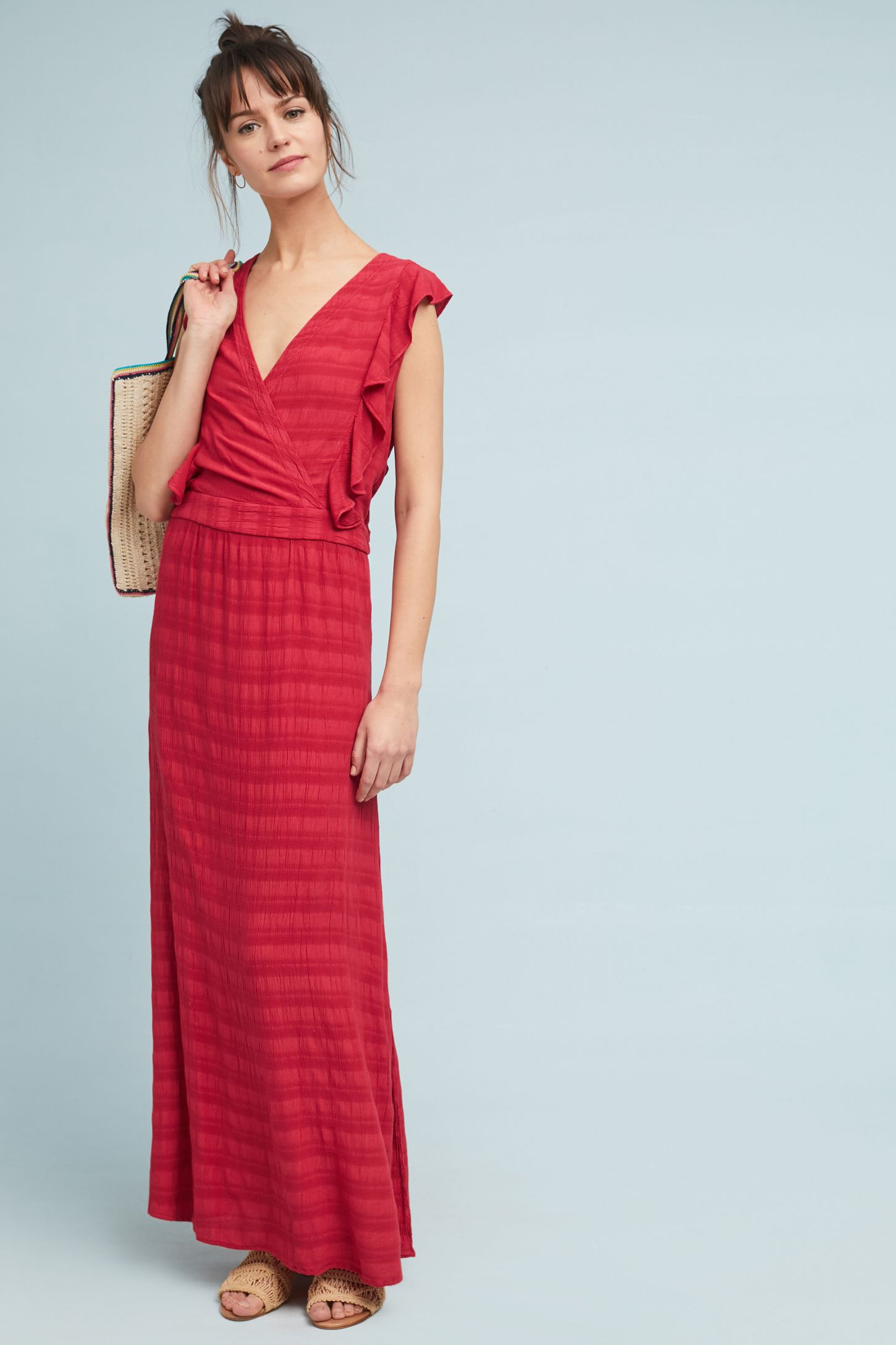 60d55aea6184 Michael Stars Flutter-Sleeve Maxi Dress | Anthropologie