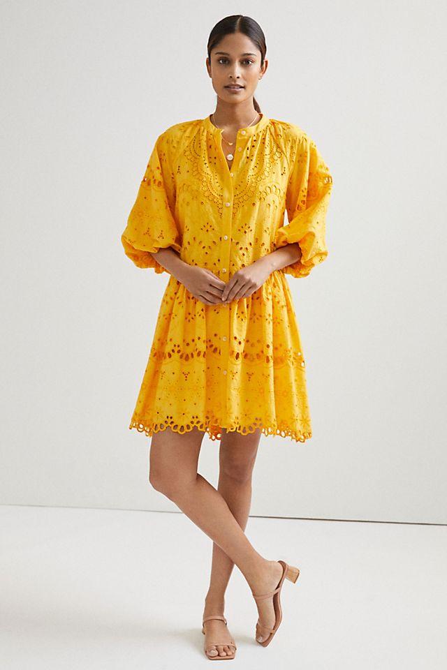 Tallulah Eyelet Mini Dress, $188, Anthropologie
