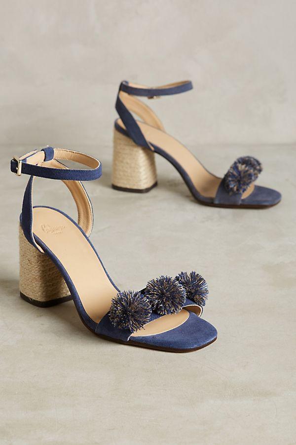 e0f88c77bd6 Castañer Pom Pom Block Heel Sandals