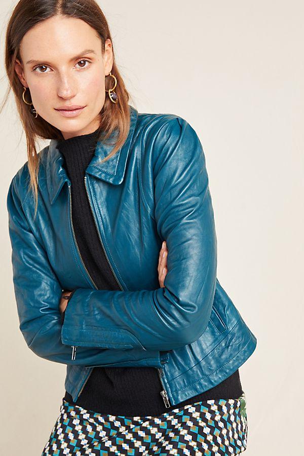 Slide View: 1: Marita Leather Jacket