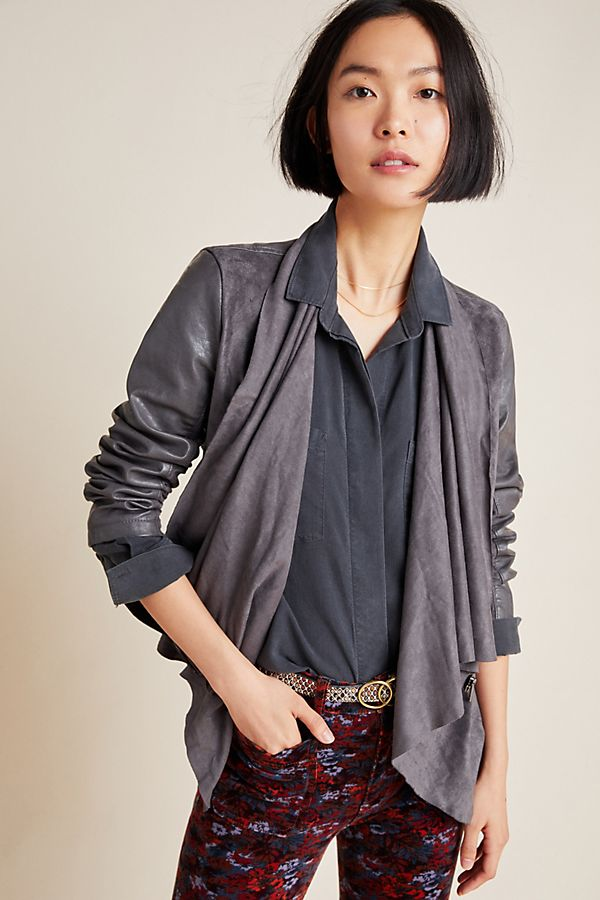 Slide View: 1: Tiana Draped Jacket