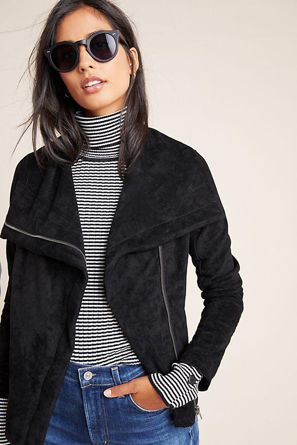 Slide View: 1: Irina Sueded Moto Jacket