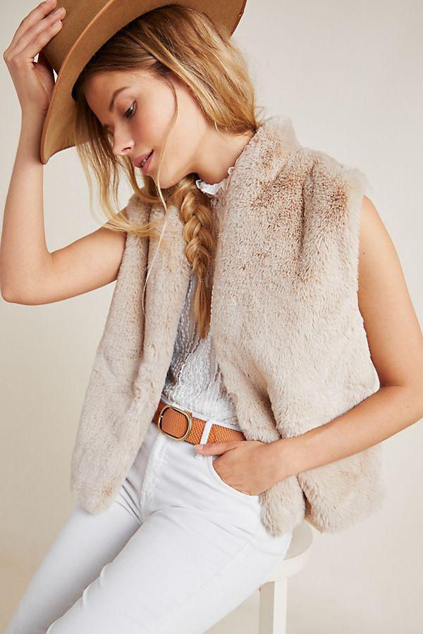Slide View: 1: Chelle Cropped Fur Vest