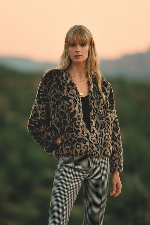 Slide View: 5: Plush Leopard Jacket