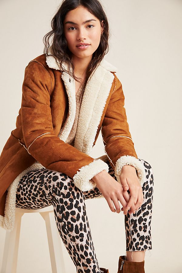 Slide View: 1: Kailani Sueded Sherpa Jacket
