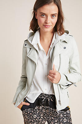 Slide View: 1: Doma Drew Leather Moto Jacket