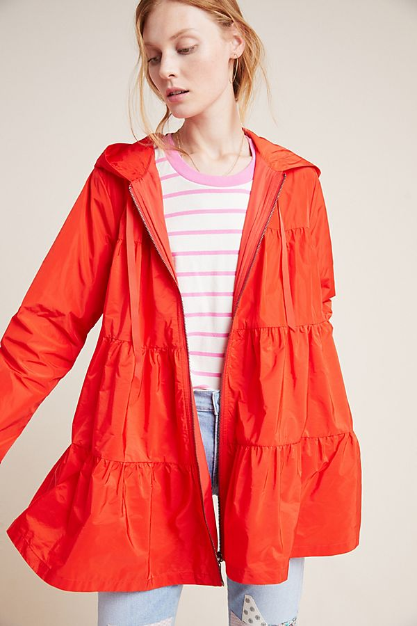 Slide View: 1: Tiered Raincoat