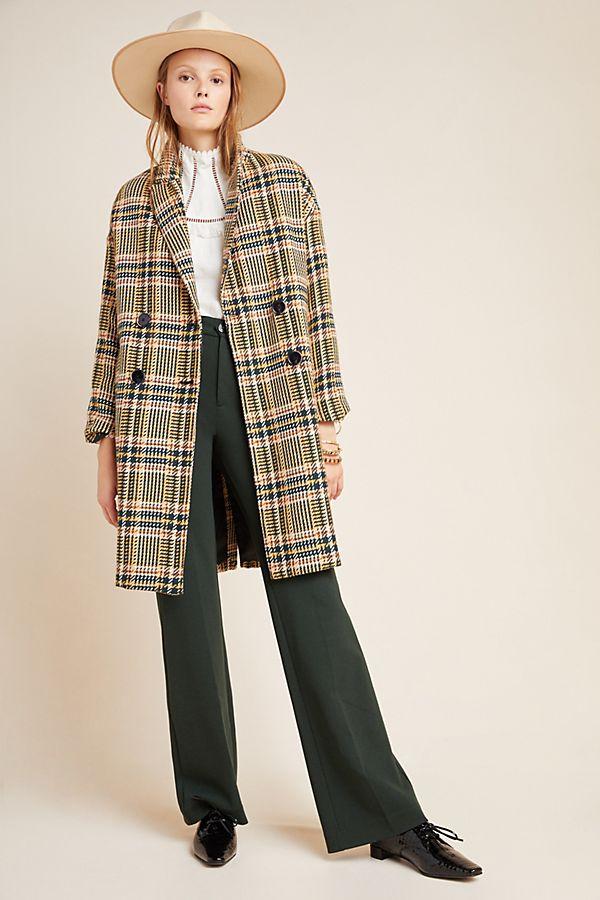 Slide View: 1: Cotter Tweed Coat