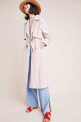Slide View: 1: Blush Trench Coat